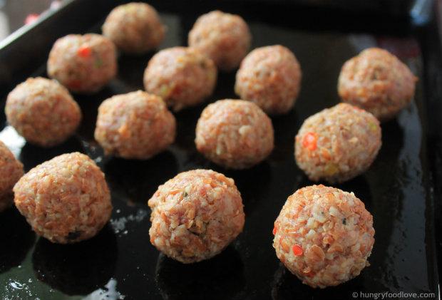 Caribbean Bulgur Bites | hungryfoodlove.com
