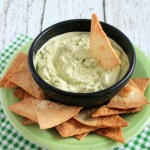 Creamy Green Chile Avocado Dip + Homemade Tortillas   |    hungryfoodlove.com