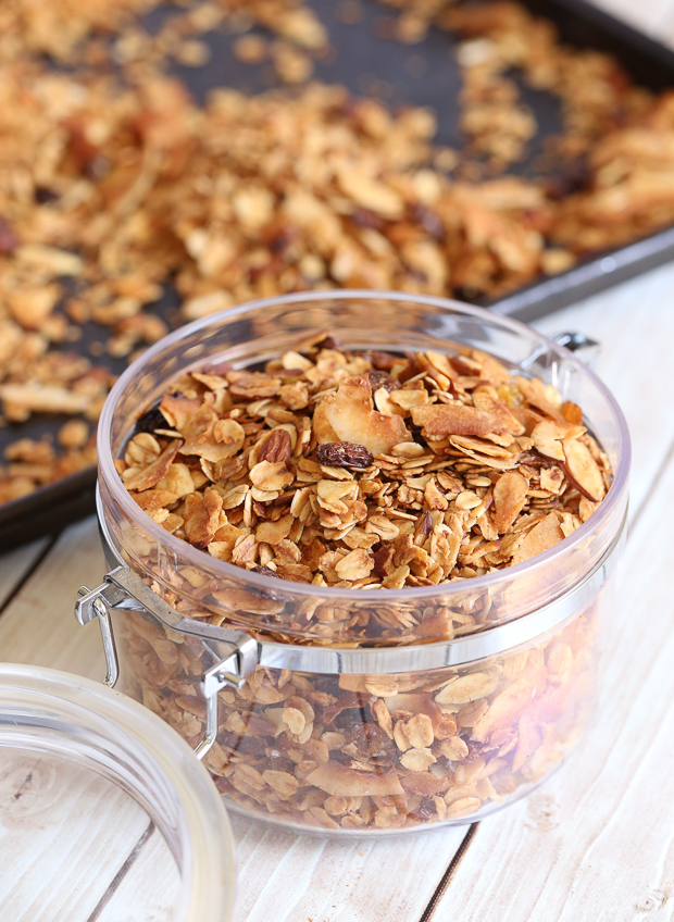 Granola, low-sugar, recipe, homemade