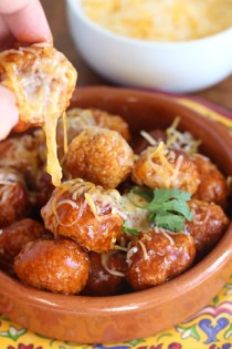Chicken Enchilada Meatballs   |   @hungryfoodlove