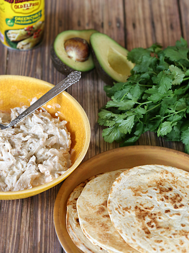 Green Enchilada Chicken Stack | @hungryfoodlove