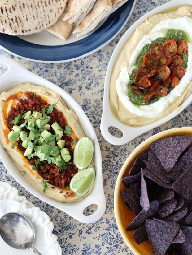 Creative Hummus Toppings Ideas   @hungryfoodlove