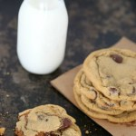 Dulce de Leche Stuffed Chocolate Chip Cookies