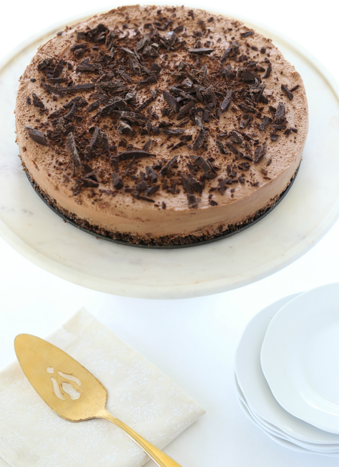 Triple Chocolate No-Bake Cheesecake
