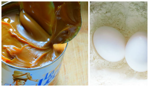 The eggs were beaten; the dulce de leche joined the mix and then came ...