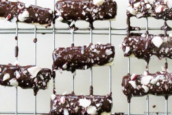 dark chocolate peppermint cookies three ingredient cookies