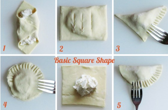 Learn the basic shapes used in Latin Pastries + recipe for Sweet Cream Cheese Empanada drizzled with Guava Cardamom Sauce.
