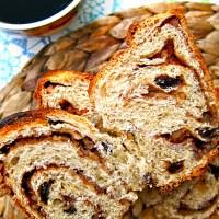 Best Ever No-Knead Pecan Cinnamon Raisin Bread