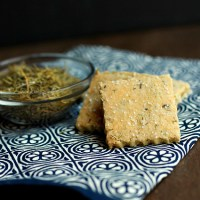 Gluten Free Rosemary Almond Crackers with Cheese