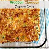 Broccoli Cheddar Oatmeal Bake