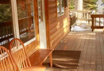 Hunting lodge deck