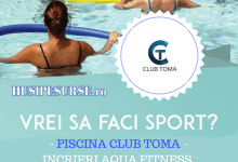 In exclusivitate la PISCINA CLUB TOMA cursuri de Aqua Fitness