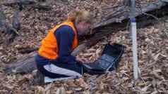 Maggie Burns doing slug tests in her wells.