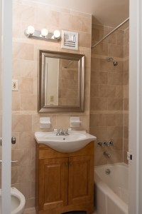 Custom bathroom accents in apartments for rent in Staten Island