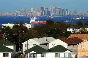 View of Manhattan from Hylan Dartmouth Staten Island Apartments