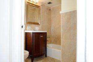 Brand new bathroom in Staten Island's Hylan Dartmouth apartment building.