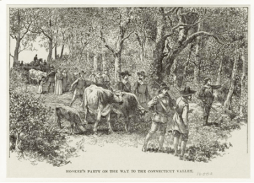 Hooker's party on the way to the Connecticut Valley, 1636