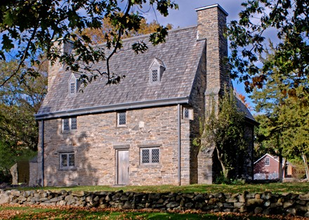 "The ""Henry Whitfield House"" (1639) is the oldest dwelling house in Connecticut and the oldest stone house in North America. It is located at 248 Old Whitfield Street in Guilford."