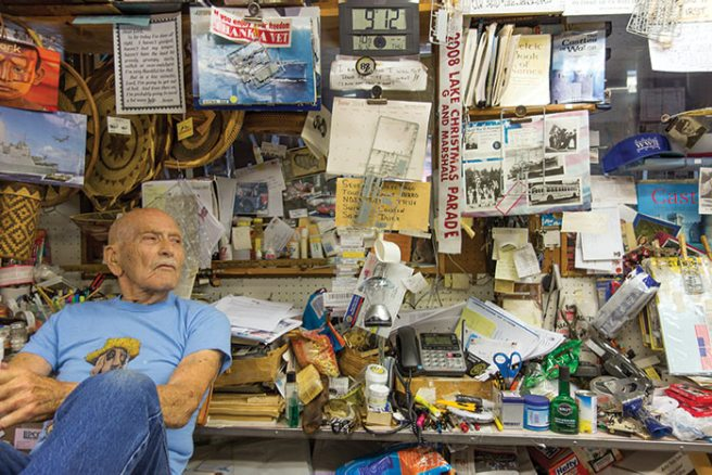 Delmar D. Davis, a sailor in World War II and pioneer souvenir seller in the Lake of the Ozarks area, is an engaging personality. Notice to documentary filmmakers – the Basket King would make a great subject.
