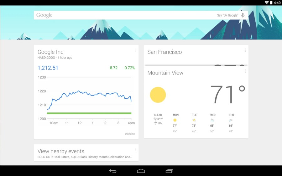 #7: Google Now Launcher