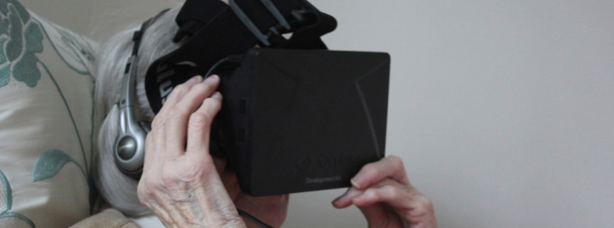 A participant in the Tangible Memories VR experiments