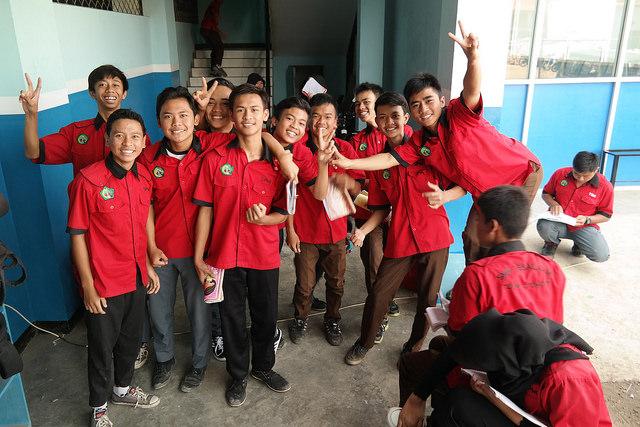Students at SMK Assalaam