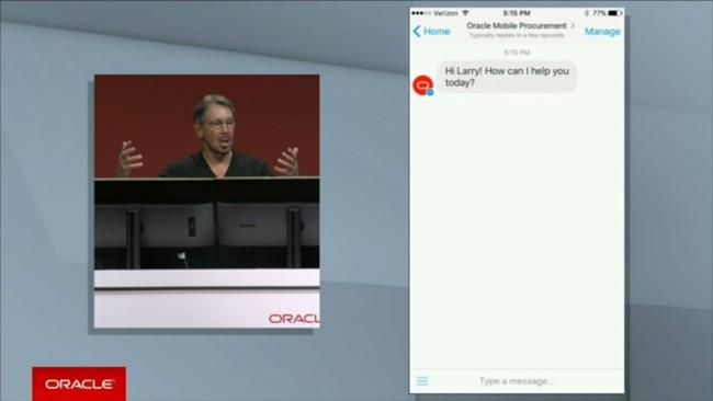 Oracle Larry Ellison Openworld 2016 Chatbot Screenshot 930x523