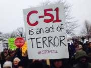 Bill C51 protest in Montreal