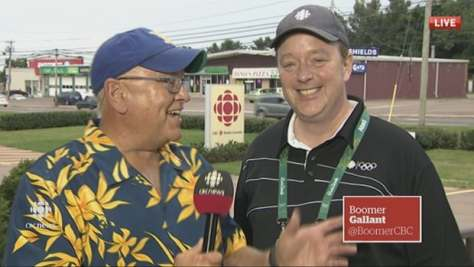 Bruce Rainnie returned to Charlottetown from Rio on Monday and made a cameo with Boomer Gallant during CBC News: Compass. He returns as Compass host on Tuesday.