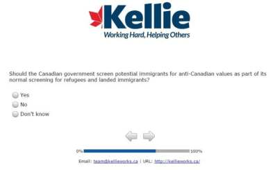 Kellie Leitch survey question