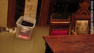 """Big"" Kenny Alphin's dining room and wine cellar  flooded."