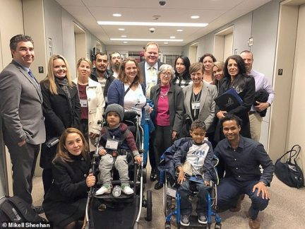 Parents of children with AFM met with the Deputy Director of the CDC, Dr. Anne Schuchat, along with other officials in Washington on Nov. 13, 2018, to discuss ways to improve reporting of AFM across the country