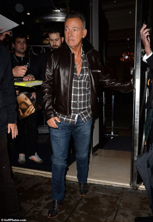 TV:Bruce has been enjoying a few days in London recently following his appearance on The Graham Norton Show
