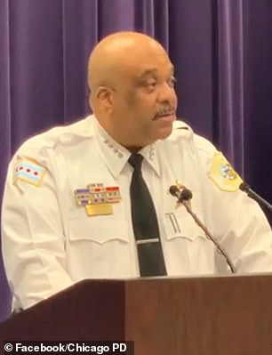 Chicago Police Superintendent Eddie Johnson called the shooting 'reprehensible' and slammed the perpetrators as 'cowards'