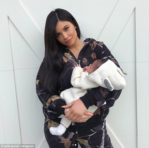 Kylie Jenner cradles Stormi in Instagram snaps   Daily Mail Online Mom duty  Fans and haters are going berserk trying to figure out how Jenner  is