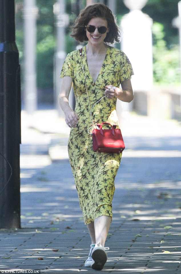 Rose Leslie steps out in yellow summer dress in London   Daily Mail     Stay mellow in yellow like Rose Leslie in Sandro