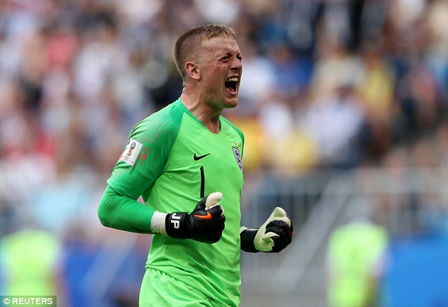 sport news Jordan Pickford soaks up praise after man of the match     Jordan Pickford was the star of the show during England s World Cup win  over Sweden