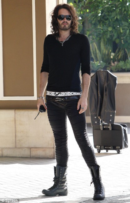Russel Brand in Male Leggings