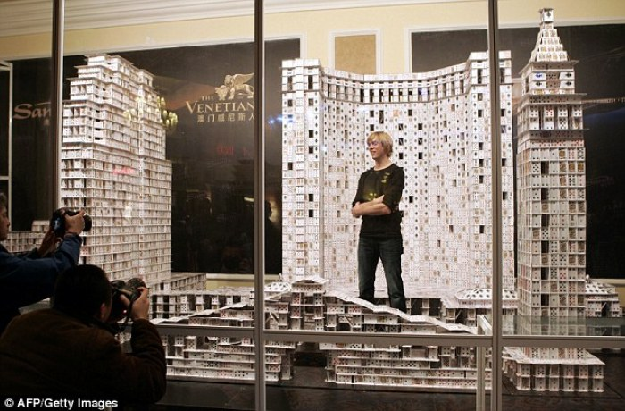 Guiness World Record Card Stacking Bonanza