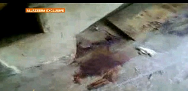 Assassination: This picture appears to show a stain, perhaps blood. The images come as Al-Qaeda confirmed Bin Laden's death for the first time, vowed revenge