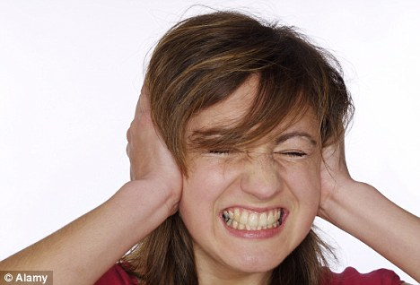 It hurts to talk very loudly, the sound of my own voice echoes loudly in my ear 1