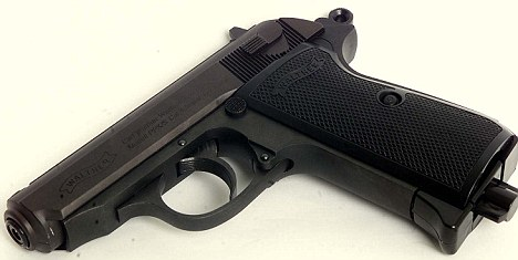 Armed and dangerous: Fischer's flat was filled with alarming items including a Walther pistol similar to this one (file photograph)