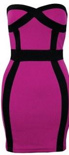 Bandeau panel bodycon dress, £42, rarefashion.co.uk