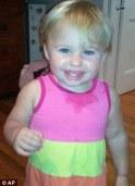 Innocent: Twenty-month-old Ayla Reynolds was reported missing on December 17