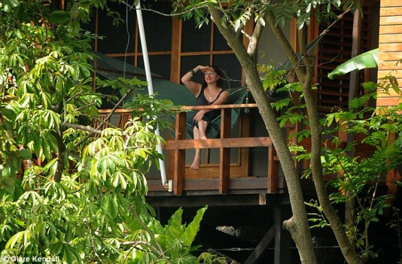 KAREN EMANUEL ON JICARO ISLAND ECOLODGE, LAKE NICARAGUA