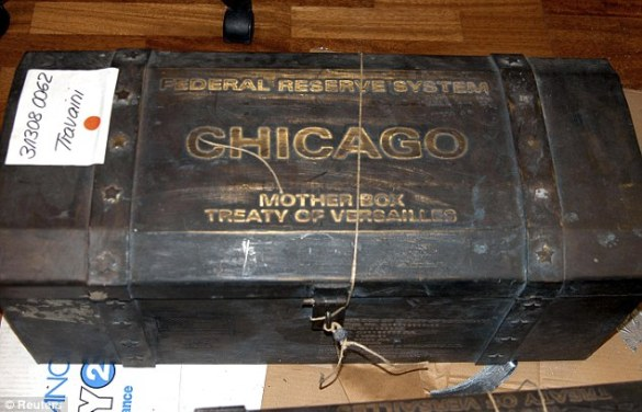 Case for the prosecution: The bonds were sealed in this trunk