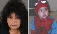 Carer: Doris Becky Trujillo, 60, had had custody of Gabriel and his older sisters Krista and Monique since last year