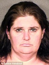 Jailed: Amanda Jolliff, 37, pleaded guilty to false imprisonment