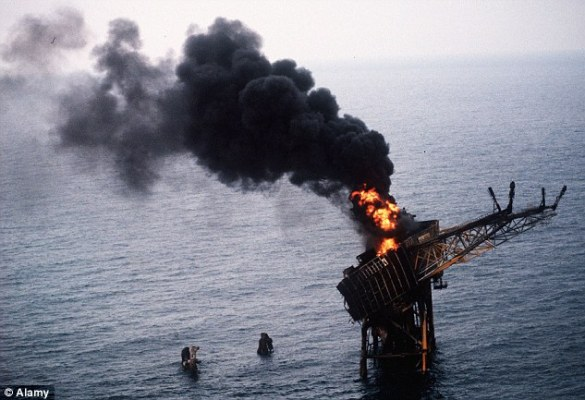 The Piper Alpha rig, 120 miles off the Scottish coast, exploded on 6 July 1988, killing 167 men. There were 61 survivors