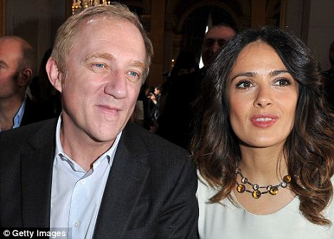 Growing demographic: The peak in Hispanic interracial marriages, like that of Salma Hayek (right) and Francois-Henri Pinault, reflects the growing Hispanic population in America